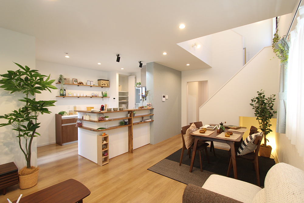 スムーズな家事動線と収納力が自慢の家