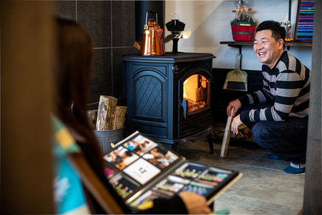 薪ストーブは、冬に実際使われていかがですか?